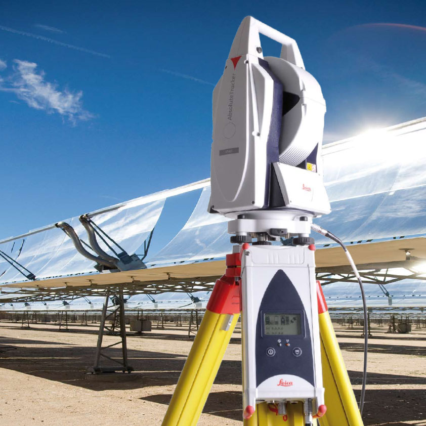 Laser tracker alineación paneles termosolares
