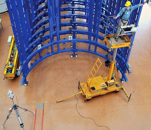 Laser tracker verificación estructura metálica