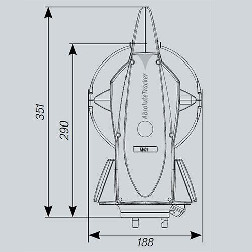 Leica AT401 - dimensión lateral